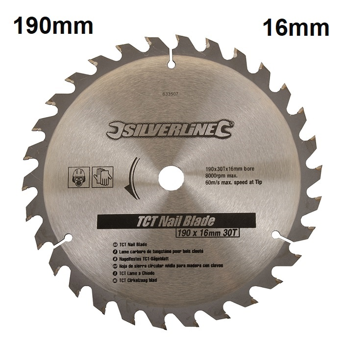 Silverline-Circular-Saw-TCT-Nail-Blade-30-T-190mm-766507
