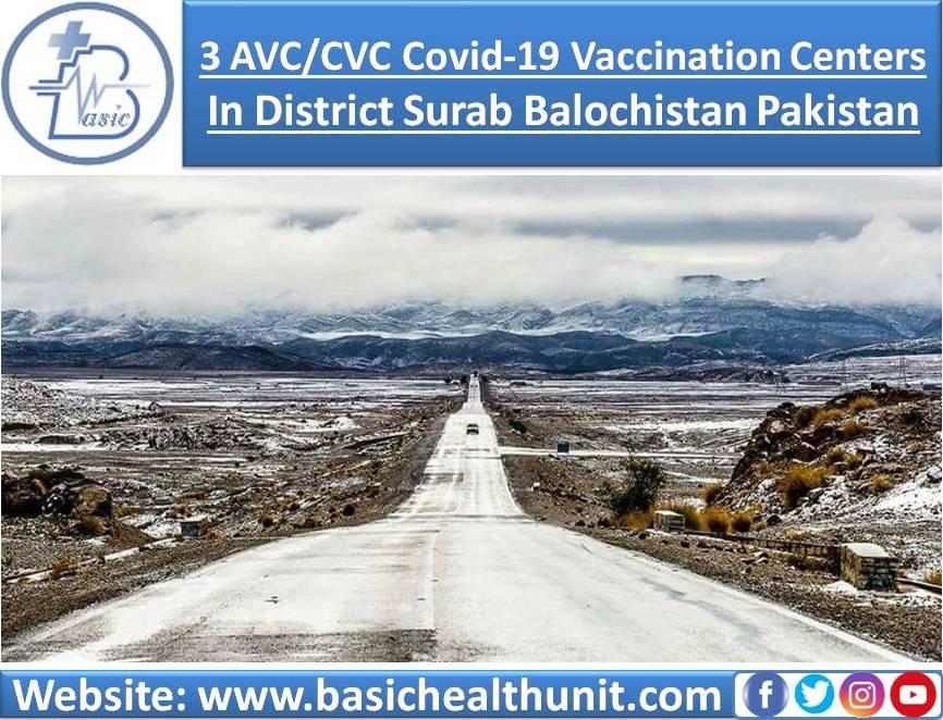 3 AVC/CVC Covid-19 Vaccination Centers In District Surab Balochistan Pakistan