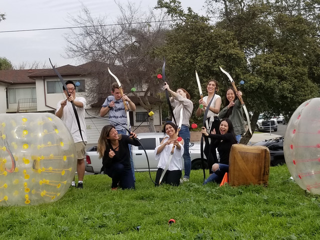 Archery Tag and Bubble Soccer in Marina Del Rey serviced by AirballingLA.