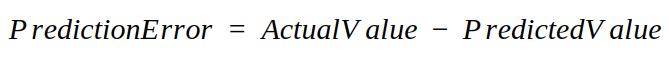 prediction error formula
