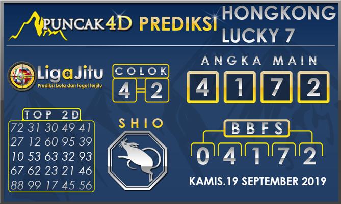 PREDIKSI TOGEL HONGKONG LUCKY7 PUNCAK4D 19 SEPTEMBER 2019