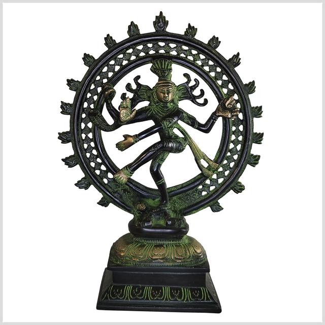 ME-Shiva-Nataraja-31cm-2-9kg-Messing-blackgreen-vorne