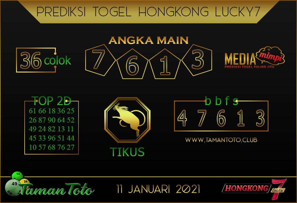 Prediksi Togel HONGKONG LUCKY 7 TAMAN TOTO 11 JANUARI 2021
