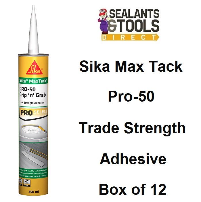 Sika MaxTack PRO-50 Grip n Grab Adhesive Box of 12