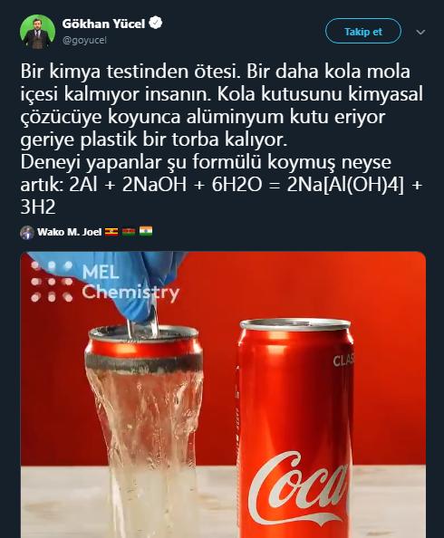 Coca Cola deney videosu