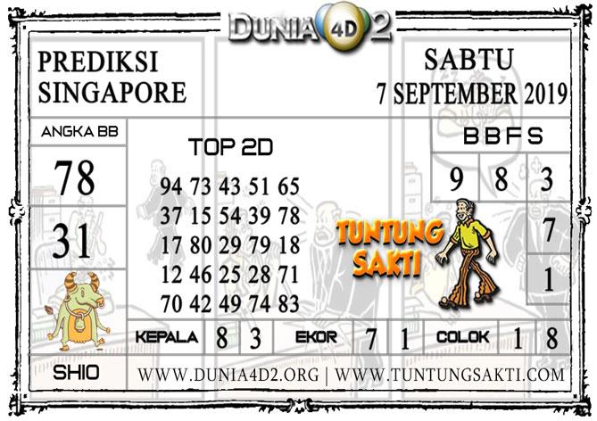"""Prediksi Togel """"SINGAPORE"""" DUNIA4D2 7 SEPTEMBER 2019"""