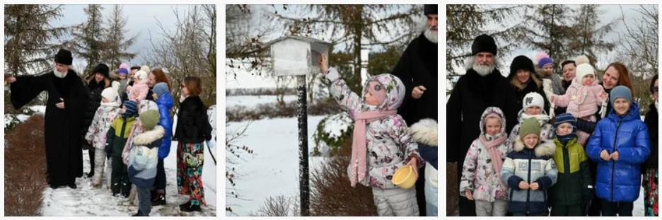 На масленичной неделе в Никольском храме с. Мансурово Истринского округа экологическая акция Покормим птиц стала доброй традицией. На территории храма есть стационарные кормушки, а в зимний период вывешиваются дополнительные