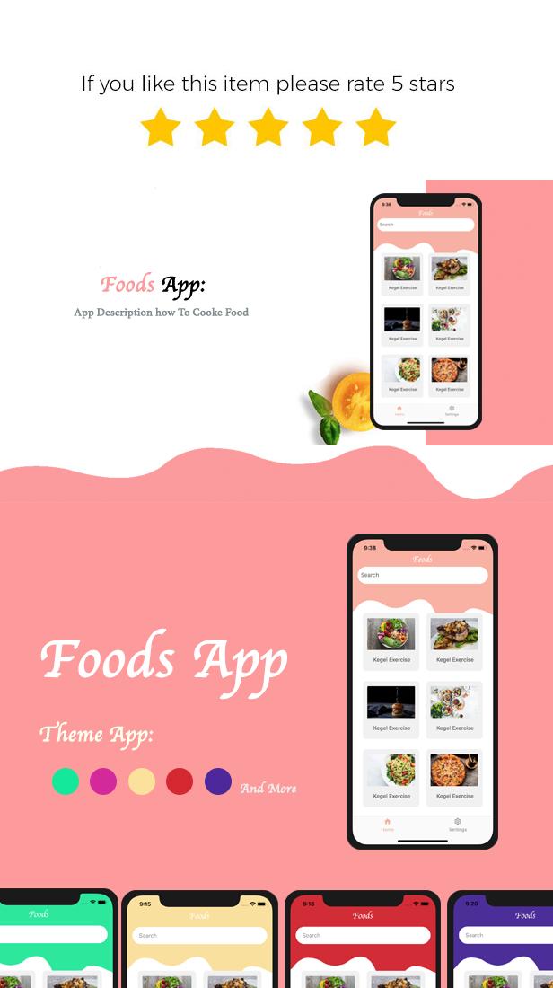 Foods    Multipurpose React native - 1
