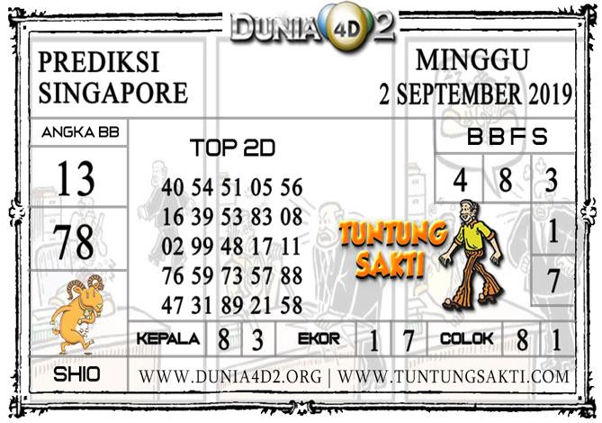 """Prediksi Togel""""SINGAPORE"""" DUNIA4D2 2 SEPTEMBER 2019"""
