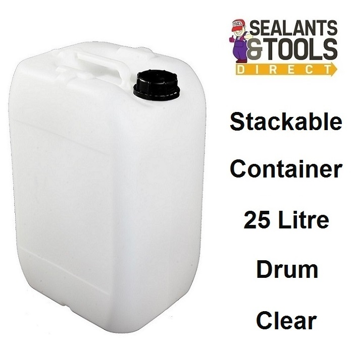 25 Litre Clear Plastic Water Storage Container Drum Petrol Can Fuel Liquid