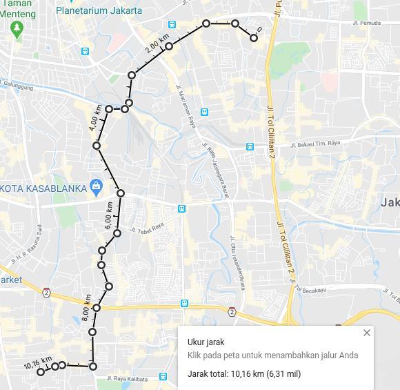 Menghitungi Jarak via Google Map