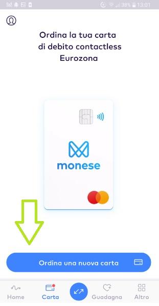 MONESE App gratuita regala fino a 25 Euro in denaro + altrettanti € SENZA LIMITI x inviti! Carta-Ordine-Monese-3