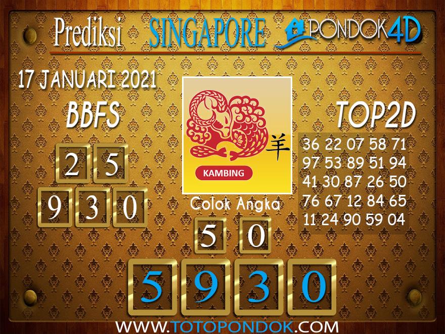 Prediksi Togel SINGAPORE PONDOK4D 17 JANUARI 2021