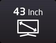 43 بوصة