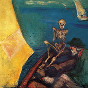 Edvard-Munch-death-at-the-helm