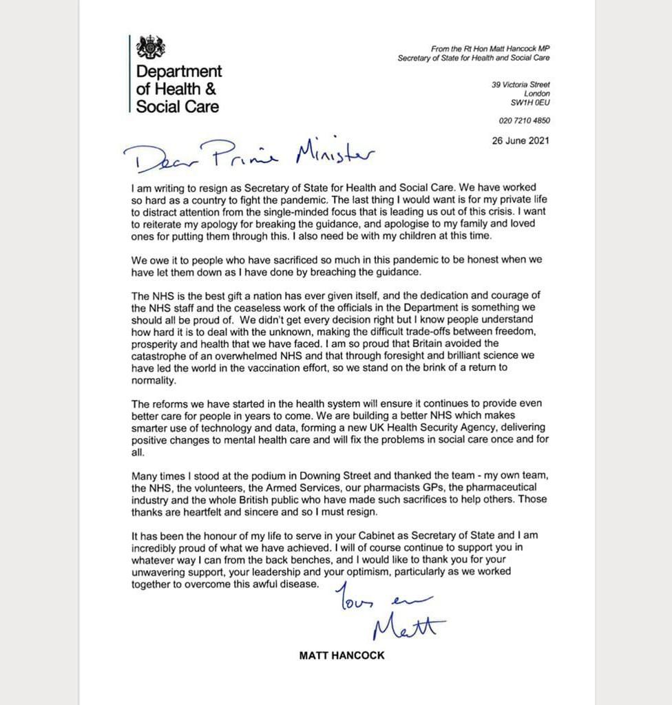 Resign letter