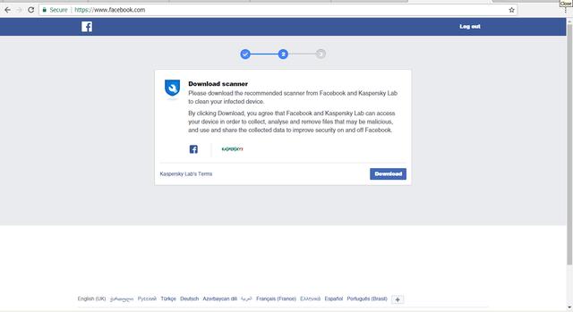 facebook force kaspersky download