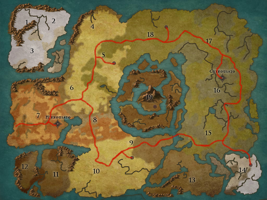 World Map Map-4