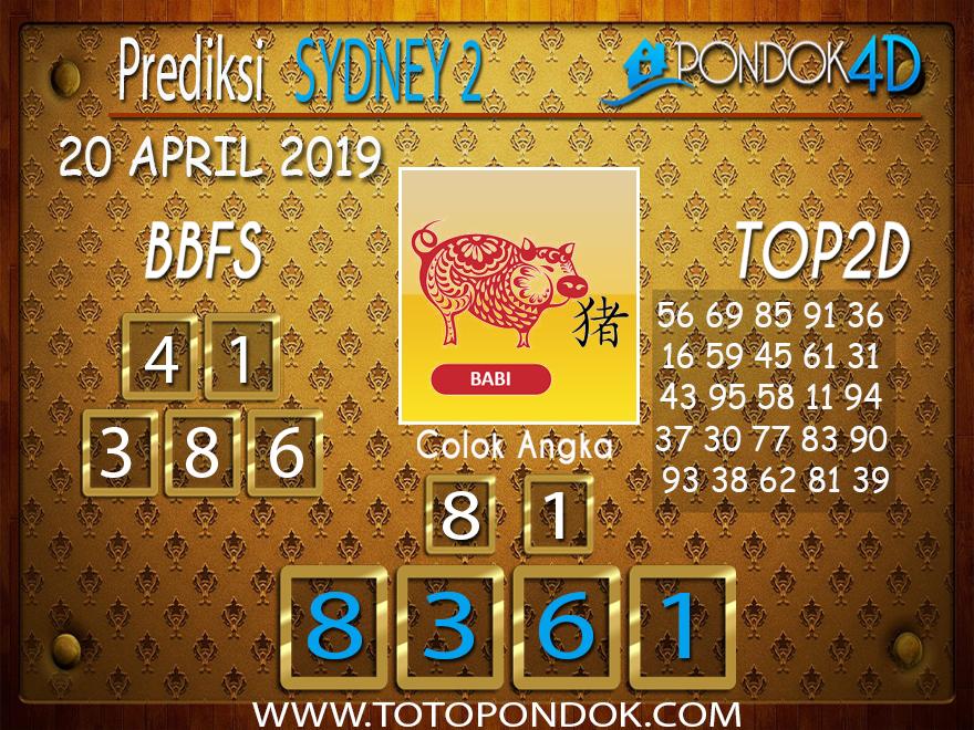 Prediksi Togel SYDNEY 2 PONDOK4D 20 APRIL 2019