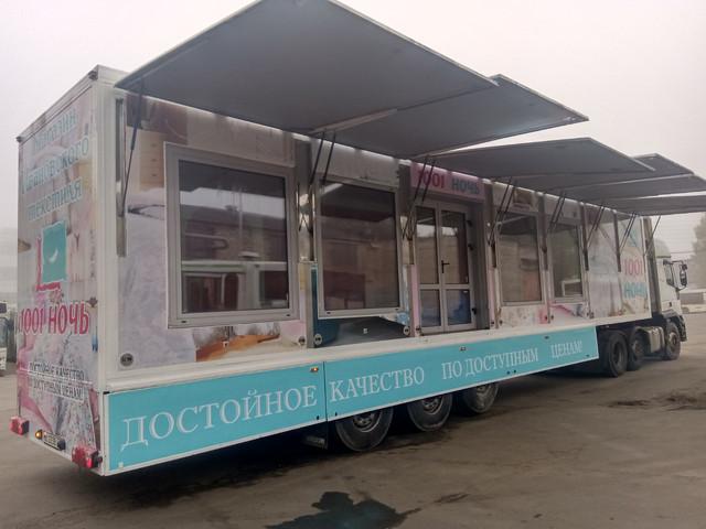 Брендирование фуры-магазина Ивановский текстиль для работы по всей России