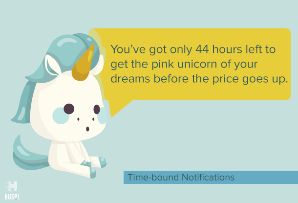 time-bound push notifications