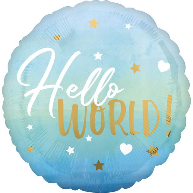 ჰელიუმის Hello World ცისფერი