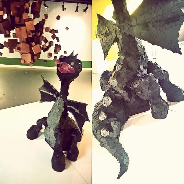 RHEGED CENTRE MINECRAFT ENDER DRAGON COMMISSION