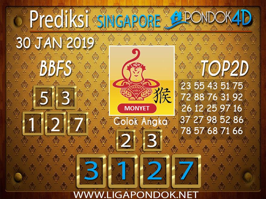 Prediksi Togel SINGAPORE PONDOK4D 30 JANUARI 2019