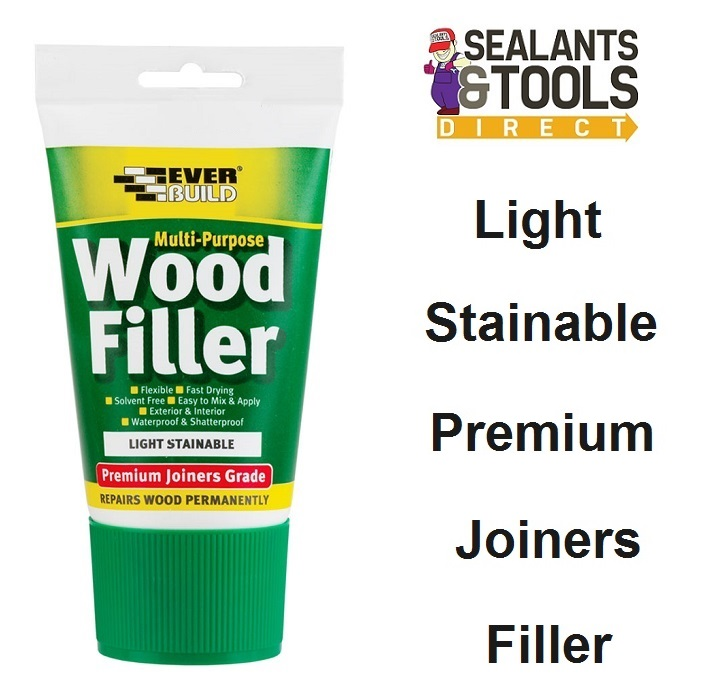 Everbuild Joiners Grade Wood Filler Light Stainable MPWOODEASILT1