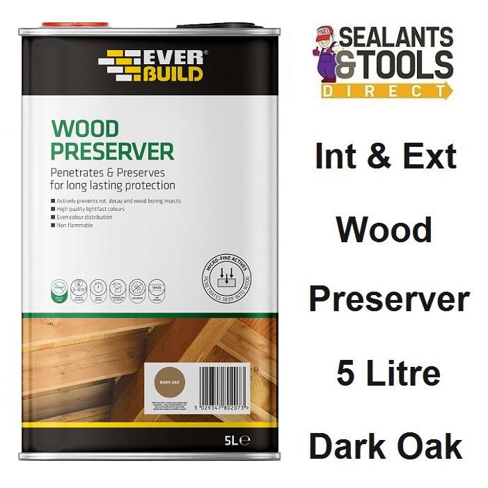 Everbuild-Wood-Preserver-Dark-Oak-5-Litre-LJDO05