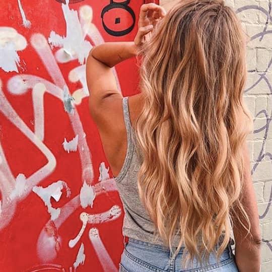 Caramel-strawberry-styled-hair