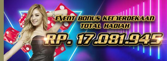 EVENT BONUS KEMERDEKAAN TOTAL HADIAH RP. 17.081.945