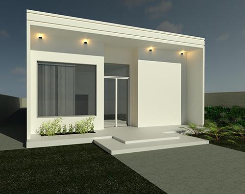 Projeto arquitetônico em 3D