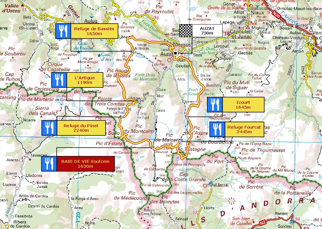 Carte 73km