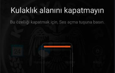 Kulaklık alanını kapatmayın - Xiaomi