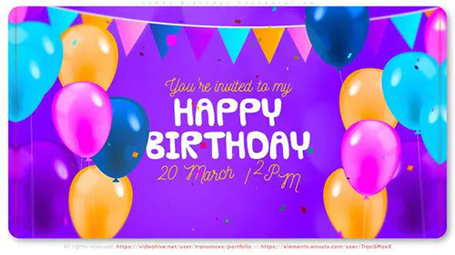 Happy Birthday Presentation 32203483 - Project for After Effects (Videohive)