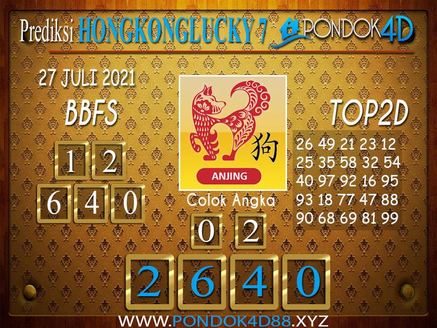 Prediksi Togel HONGKONG LUCKY7 PONDOK4D 27 JULI