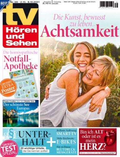 Cover: Tv Hören und Sehen Magazin No 39 vom 24  September 2021