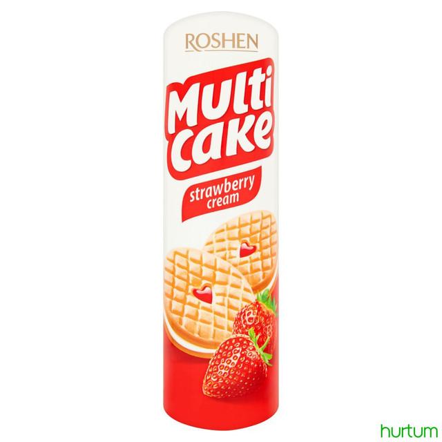 ნამცხვარი-სენდვიჩი Multicake მარწყვის  შიგთავსით  roshen 195 გრ