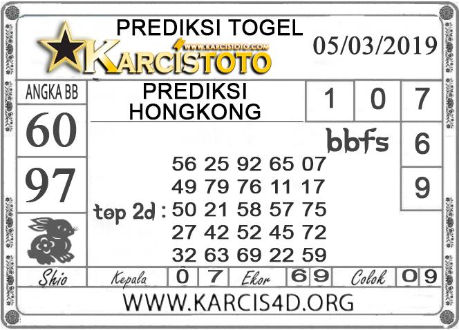 Prediksi Togel HONGKONG KARCISTOTO 06 MARET 2019