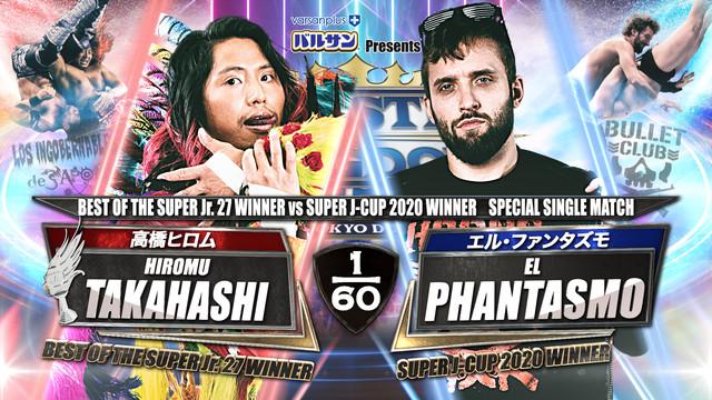 Hiromu Takahashi vs. El Phantasmo  Wrestle Kingdom 15 Online