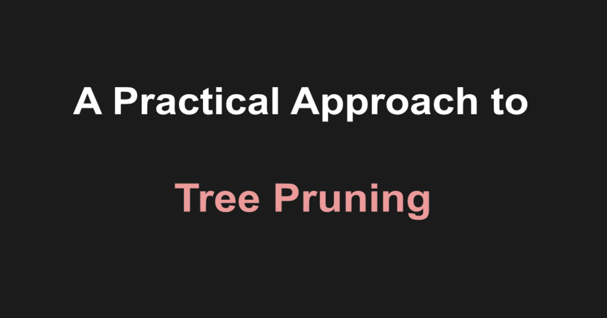 Practical approach to tree pruning using sklearn