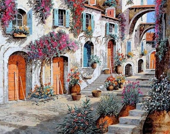 Картина по номерам Очаровательная улица GX9943