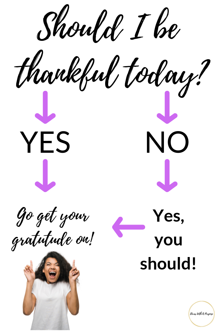 A reminder to express gratitude regularly. Should I be thankful today? Yes, yes you should.