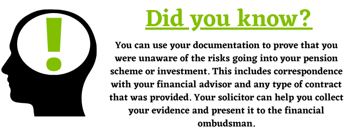 Documentation, scams and pension providers