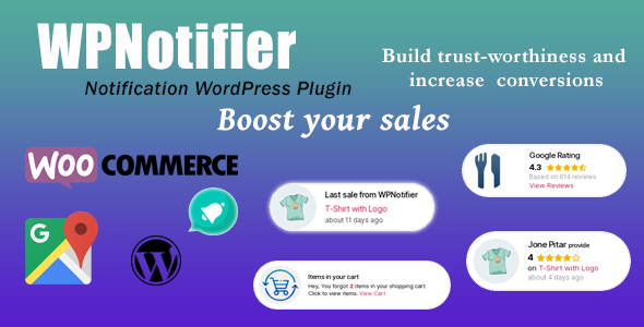 WPNotifier - Notification WordPress Marketing Plugin For Visitors Attention and Social Proof - 1