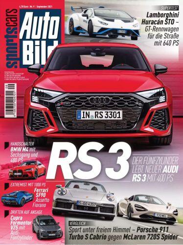 Cover: Auto Bild Sportscars Magazin No 09 September 2021