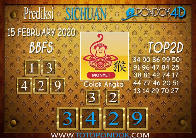 Prediksi Togel SICHUAN PONDOK4D 15 FEBRUARY 2020