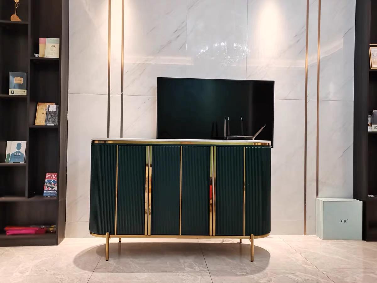 elec sideboard green gold
