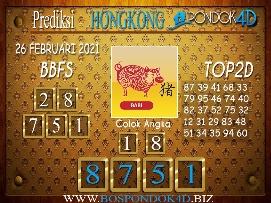 Prediksi Togel HONGKONG PONDOK4D 26 FEBRUARI 2021